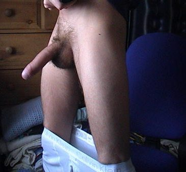 Horny Dude Take Undies Down To Show Long Dick