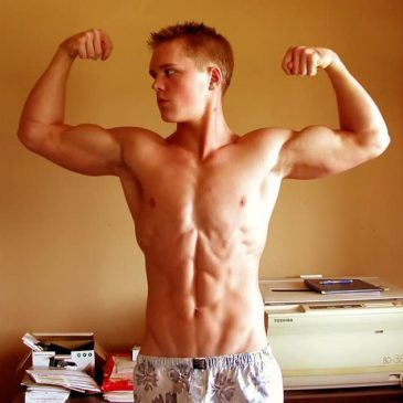 Cute Looking Brunette Guy Show Hot Muscles
