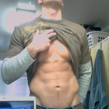 Handsome Guy With Hot Abs Exposed