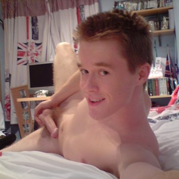 Cute Boy Playing His Dick While On Bed