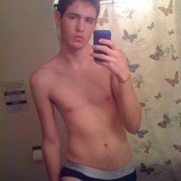 Slim Guy Take Pic With Only Undies On
