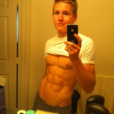 Cutie Blonde Guy With Hottie Oozing Body
