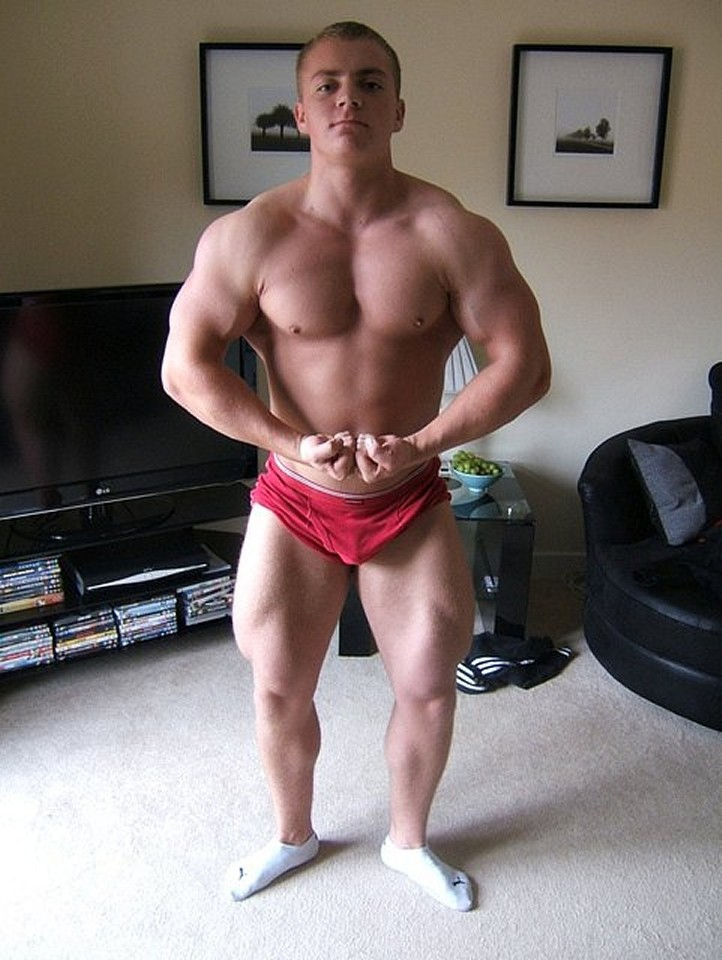 Sexy Muscle Boy Posing For The Camera