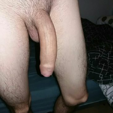 Really pleases Long black cock hanging down think