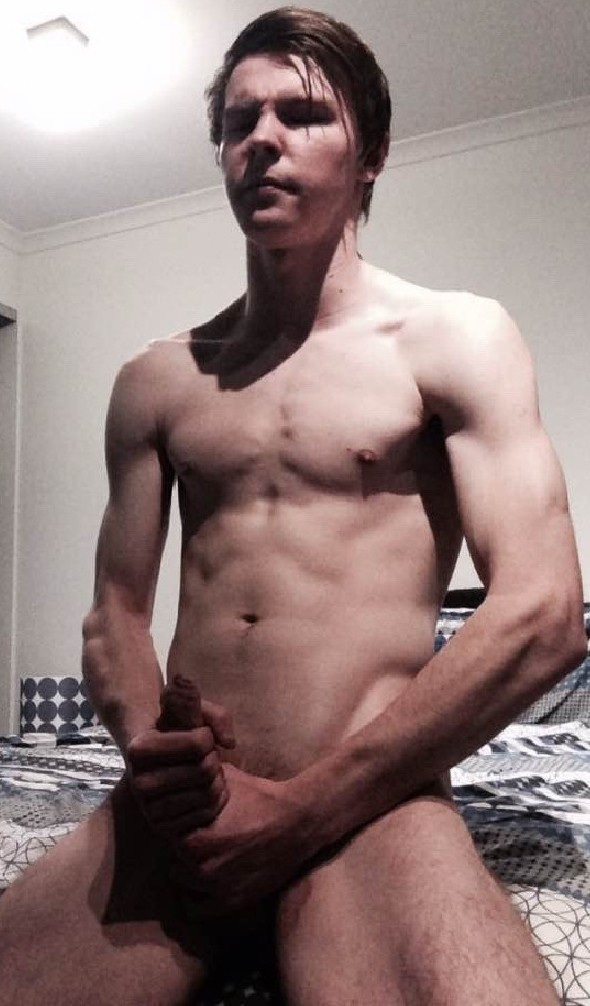 Ripped Amateur Jerking